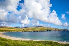 Härlig sikt på Shetlands Fotografering för Bildbyråer