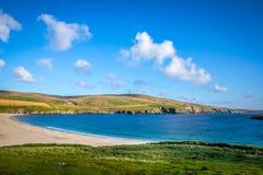 Härlig sikt på Shetlands Arkivfoto
