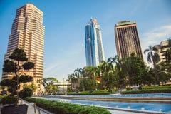 Härlig sikt på torn i Kuala Lumpur malaysia Arkivfoto