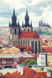 Härlig sikt till Prague Arkivbild