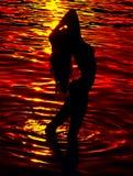 härlig silhouette Royaltyfria Foton