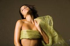 härlig silk kvinna Royaltyfri Foto