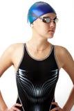 härlig simmare Arkivfoton