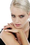 Härlig sinnlig blond kvinna arkivbild