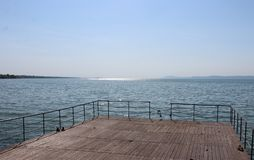 Härlig sjö Balaton Arkivfoton