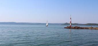 Härlig sjö Balaton Fotografering för Bildbyråer