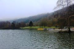 Härlig sjö i Echternach, Luxembourg Royaltyfria Foton