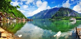 Härlig sjö i Hallstatt, Österrike Fotografering för Bildbyråer
