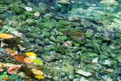 Härlig sjö med ingen reflexion färgrika rocks Royaltyfri Fotografi