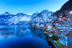 Härlig sjö på Hallstatt Royaltyfria Bilder