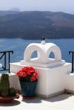 härlig sjösida för balkong Arkivfoton