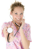 härlig sjuksköterska Arkivfoto