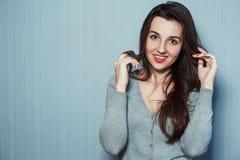 härlig skönhet eyes den naturliga ståenden för flickamakeup Arkivbild
