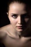 härlig skönhet eyes för naturståenden för makeup den naturliga kvinnan Fotografering för Bildbyråer
