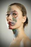härlig skönhet eyes för naturståenden för makeup den naturliga kvinnan Royaltyfri Bild