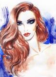 härlig skönhet eyes för naturståenden för makeup den naturliga kvinnan skärm för efterföljd för bakgrundsdatormode Arkivbilder