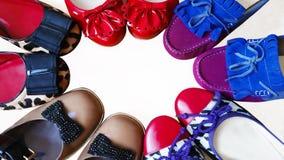 Härlig skosamling för kvinnor Arkivfoton