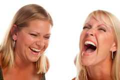 härlig skratta syster två Royaltyfri Foto