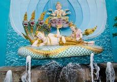 Härlig skulptur av Ramayana är en forntida indisk epos på på miniatyren parkerar är ett öppet utrymme som visar miniatyrmodellen Royaltyfria Foton