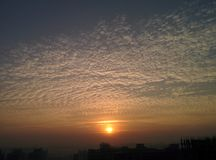 Härlig sky Arkivbild