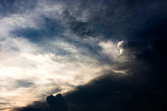 härlig skysolnedgång Royaltyfri Fotografi