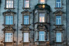 Härlig sliten ut fasad Royaltyfria Foton