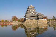 Härlig slott Matsumoto i Japan Arkivfoton