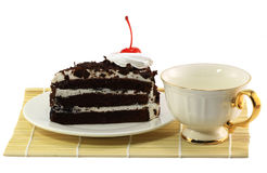 Härlig smaklig chokladcake Royaltyfria Foton