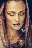 härlig sminkkvinna Fotografering för Bildbyråer