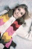 härlig snowkvinna royaltyfri fotografi