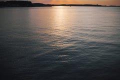 Härlig sol bak molnen, havet Royaltyfri Fotografi
