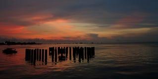 Härlig solnedgång över Indiska oceanen Fotografering för Bildbyråer