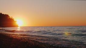 Härlig solnedgång över Lake Ontario, USA arkivfilmer