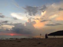 härlig solnedgång Arkivfoto