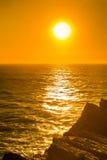 Härlig solnedgång, Atlantic Ocean Arkivfoto