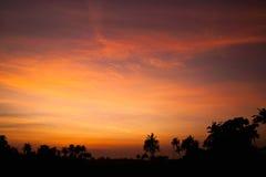 härlig solnedgång för bakgrund Arkivbild
