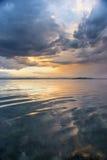 Härlig solnedgång från stranden nära Sydney, Australien arkivbild