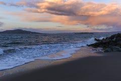 Härlig solnedgång - himmelfärger på solnedgången - san fransisco Kalifornien ca royaltyfri bild