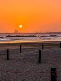 Härlig solnedgång i Agadir, Marocko Fotografering för Bildbyråer