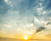 Härlig solnedgång i Thailand Arkivbild