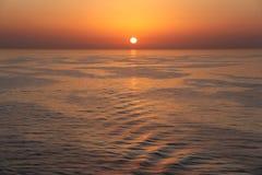 Härlig solnedgång - Muscat, Oman Royaltyfria Bilder