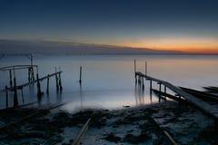 Härlig solnedgång nära den Ravda Bulgarien Fotografering för Bildbyråer