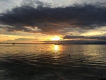 Härlig solnedgång på Panglao öFilippinerna Arkivfoton