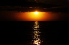 Härlig solnedgång på stranden i Florida Florida tangenter semester Royaltyfria Foton