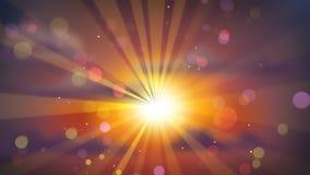 Härlig solnedgång ut ur fokus Royaltyfri Fotografi