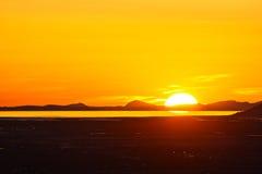 härlig solnedgång utah Arkivfoto