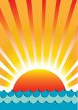 Härlig solnedgångbakgrund för tappning Arkivfoto