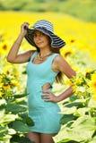 härlig solroskvinna Royaltyfria Foton