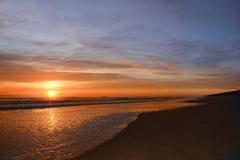 Härlig soluppgång över Atlantic Ocean arkivfoto