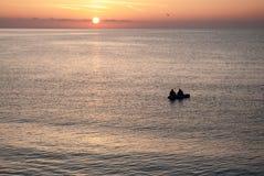Härlig soluppgång över havet i Bulgarien Royaltyfria Bilder
